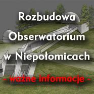Rozbudowa Obserwatorium – umowa podpisana!
